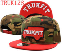 Wholesale camo trukfit snapback hat custom skate MISFIT hats snapbacks snap back cap mixed men women caps color