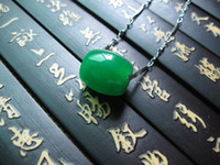 Bohemian Women's Party high quality Jade Green Color necklace green jade pendant Womens Beautiful Costume Jewelry Necklace Pendant For Women Big Hole Pendant