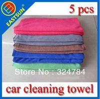 Wholesale EASTSUN g microfiber weft towels polyester nylon scrubbing Car Towel absorbent dry hair towel cm