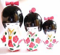 japanese kokeshi dolls - New Sets KOKESHI ORIENTAL JAPANESE WOODEN DOLLS