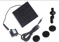 Wholesale 2013 Best price Solar Water Pump Kit Solar Brushless Pump For Water Cycle Pond Rockery Fountain Pool Water Pump Garden Plants Watering Kit