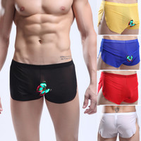 Men Boxers & Boy Shorts Sexy New Hot Erotic Men's Male Mans Sexy Mesh See-Through Boxer Brief Trunks Sports Casual GYM Transparent Run Shorts Trunks Boxers Briefs S M L