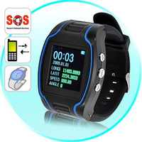 Wholesale Promotion GPS GSM GPRS Watch Tracker Mini Track Device for Child Kid by DHL