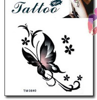 Wholesale retail fly butterfly Good quality Temporary tattoos Waterproof tattoo stickers body art Painting