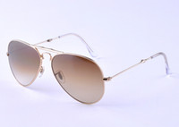 Wholesale sunglasses Designer sunglass women men fold metal Gold sunglass Green lens