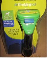 Wholesale Pet brush Dog brush Cat Brush Grooming Green Long Hair Short Hair Expert deshedding Edge Designer inch Pet cleaning