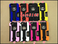 Metal For Apple iPhone For Christmas Bottle Opener Hybrid stand holster clip belt credit card slot plastic silicone gel hard case For iphone 5 5G skin cover fashion cases 25pcs