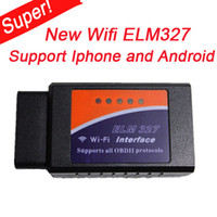 For BMW add scanners - New WIFI ELM327 scanner Wireless elm OBD II Scan tool Compatible with IPhone Ipad IPod and Android new added Bluetooth function