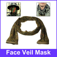 Wholesale Tactical Multi functional Camouflage Scrim Scarf Face Veil Mask