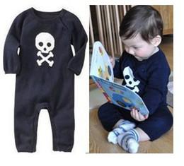 Baby romper kids children long sleeve skeleton Romper boy skull rompers