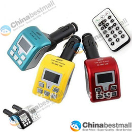 Wholesale 5 Colors Wireless Bluetooth Car MP3 Player FM Radio Transmitter with Remote Control Support SD MMC USB Port
