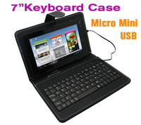 ainol fire case - Micro Mini USB inch keyboard case for ainol novo7 fire PIPO S1 S3 CUBE mini U30GT Sanei N77 inch Tablet pc