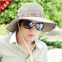 Wholesale Male fishing cap sunbonnet men s beach cap big along the cap outdoor sun hat folding bucket hat