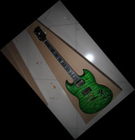Solid Body 6 Strings Mahogany New Arrival 2013 China guitars electric guitar g400model Grass green wave sg 130516