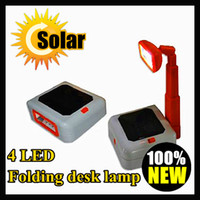 IP44 Portable  Solar 4 LED rechargeable table lamp, indoor small folding desk lamp, a mini solar desk lamp for studying ,eyes protecting ,Freeshipping