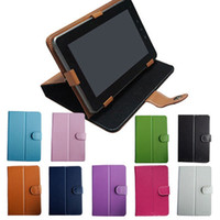 Wholesale 100pcs Leather Cover case for inch Pipo S1 Ainol Novo7 Flame aurora ii elf ii tornados Sanei N77 Onda Cube Q88 A13 and all quot TABLET PC