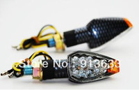 Wholesale In stock Carbon Turn Signal LED KAWASAKI Dual Sport Motorcycle dirt bike supermoto light
