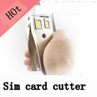 Wholesale Universal perfect Double Cutting Edge Micro amp Nano Sim Card Cutter For Iphone Iphone4 G th Iphone Iphone5 G th Black Silver