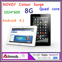Wholesale HOT NEW NOVO Colour Surge Android Quad Core inch Tablet PC Resolution G RAM G Memory WIFI free delivery