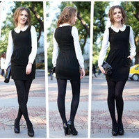 Round Mini Sheath 2013 new fashion dress lace cotton blended doll collar long-sleeved waist pencil skirt OL formal dress S_XL 1318 black camel side pockets