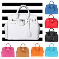 Wholesale Hot Elegant Vintage Women Lady Celebrity PU Leather Tote Handbag Shoulder Hand Bag with Lock colors H8961