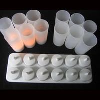 Wholesale 12pcs set amber Rechargeable Candle Lamp LED night Lights Realistic Tea Candles for party bar