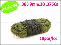Wholesale Gun amp Rose boresnake Bore Snake Gun Cleaner for Nettoyant De Carabine mm Cal Cotton Army Green