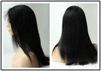 Wholesale Rani Hair Real Images Brazilian Remy Human Hair Full lace wig Inch Silky Straight Color Jet Black Quality Assurance A020 DHL Free