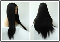 Wholesale Rani Hair Real Images Brazilian Remy Human Hair Full lace wig DHL Free Inch Silky Straight Color Jet Black Quality Assurance A023