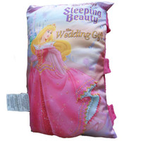 Fiber Small Multi-Color Novelty Storybook Baby Pillow, Sleeping Beauty, Baby Cognitive Soft Toy