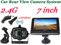 Wholesale 2 G Wireless Car Reverse Rear View License Plate Backup Camera System inch Wireless bus Monitor