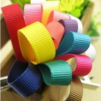 Wholesale Abuout quot mm solid color grosgrain ribbon party ribbon y gt colors TS1368 MOQ color