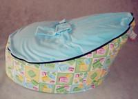 Wholesale A B C blue seat baby beanbags doomoo bean bag chair kid snuggle pod