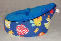 Wholesale Seaword fish blue top baby bean bag doomoo beanbag sofa seat baby chair