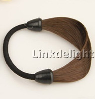 Wholesale NEW Ponytail hair band Faux Hair band Soft Extensions Stretchy Headband Hairband Hairpiece Freeshipping
