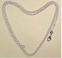 Wholesale Sterling Silver mm quot O quot Chain Necklace inch FR6
