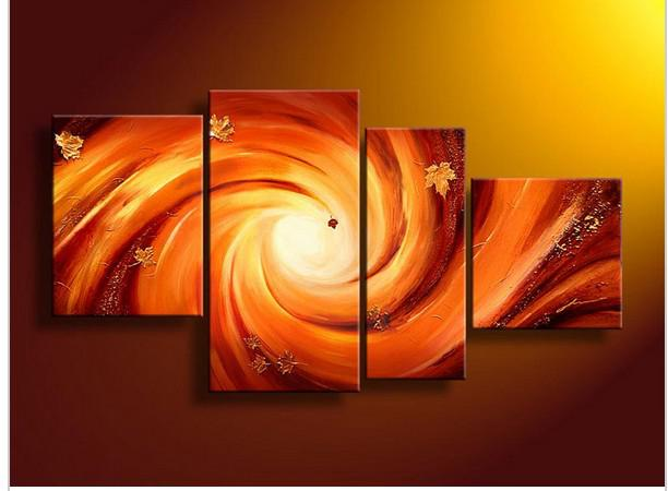 4 Piece Wall Art wall art modern abstract fresh look color autumn sonata oil