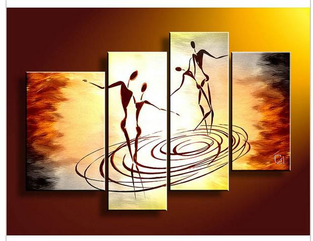 4 Piece Wall Art wall art people dance of love oil painting on canvas oil painting