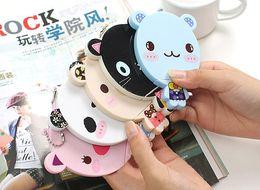 Wholesale Cute cartoon animal comb mirror set Makeup Mirrors portable pocket cosmetic mirror FreeShipping