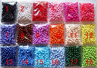 Wholesale 1000PCS Chunky beads Mixed solid colors Acrylic MM Spacer Beads for chunky necklace