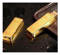 Wholesale NEW gold bar Genuine GB USB Memory Stick Flash Pen Drive free shipp
