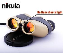 Wholesale Nikula LLL x25 visión nocturna Con radio tira caza de la luz Telescopio Binocular m m