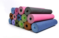 Wholesale Eco Friendly Yoga Fitness Exercise Mats TPE mm Slip Resistant Twin layer Double Color Factory Outlet