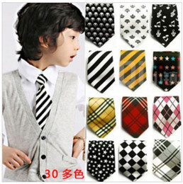 Wholesale 30 designs children ties necktie choker cravat boys girls ties baby scarf neckwear dandys