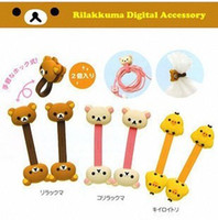 Wholesale Cute Cartoon Earphone Cable Winder Cable Holder Coiling Line Device coil wire clip