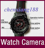Wholesale built in GB Watch camera DVR Waterproof Wrist Watch Camera FPS AVI hidden camera Free DHL