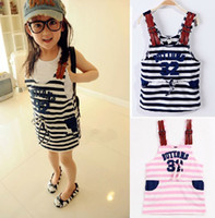 2013 Girl's Dresses Girls Striped Strap Dress Fashion Summer...
