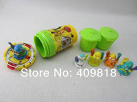 Multicolor trash cans - 40sets trash pack models mix New can Rotation Trash rubber toys funny toys box set