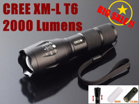 Wholesale UltraFire E17 CREE XM L T6 Lumens High Power Torch Zoomable LED Flashlight for AAA