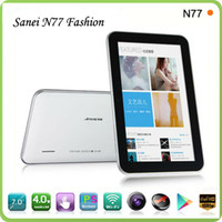 7 inch 7 android 4.0 tablet - Android Tablet PC Sanei N77 Fashion Capacitive Camera M GB G Support Free DHL